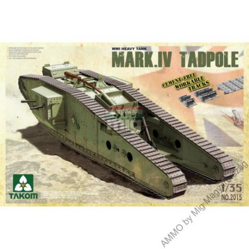 TAKO2015 WWI Heavy Battle Tank Mark IV Male Tadpole w/Rear mortar makett