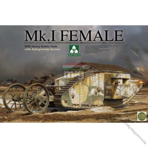 TAKO2033 Mk.I FEMALE WWI Heavy Battle Tank makett