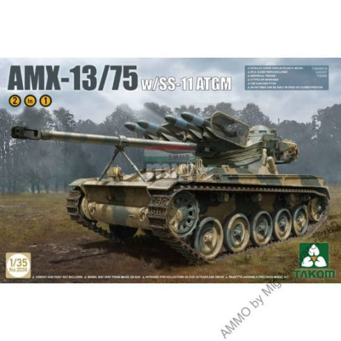 TAKO2038 FRENCH LIGHT TANK AMX-13/75 WITH SS-11