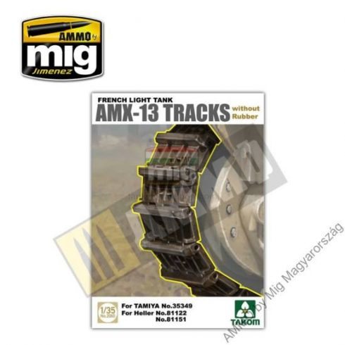 TAKO2060 French Light Tank AMX-13 Tracks without Rubber