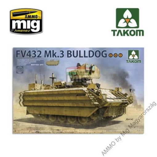 TAKO2067 1/35 BRITISH APC FV432 Mk.3 BULLDOG (2 in 1) makett