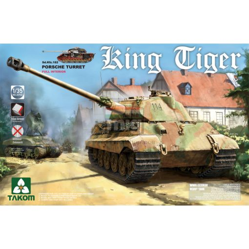 TAKO2074S 1/35 WWII German King Tiger Porsche Turret w/interior [without Zimmerit] SPECIAL EDITION