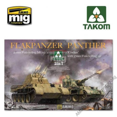 "TAKO2105 1/35 Flakpanzer Panther ""Coelian"" with 37mm Flakzwilling 341 & 20mm flakvierling mg151/20 2 in 1"
