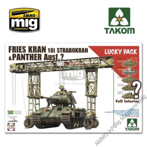 TAKO2108 1/35 FRIES KRAN 16t STRABOKRAN 43/44 + PANTHER FULL INTERIOR