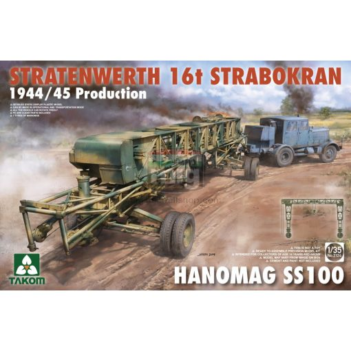 TAKO2124 1/35 Stratenwerth 16t Strabokran 1944/45 Production & Hanomag ss100 makett