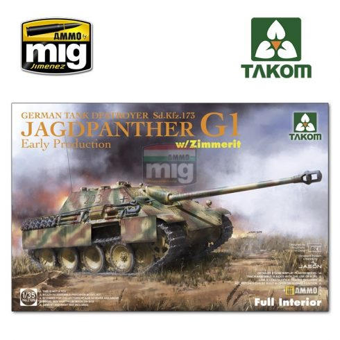 TAKO2125 1/35 Jagdpanther G1 early  German Tank Destroyer Sd.Kfz.173  w/ Zimmerit / full interior kit