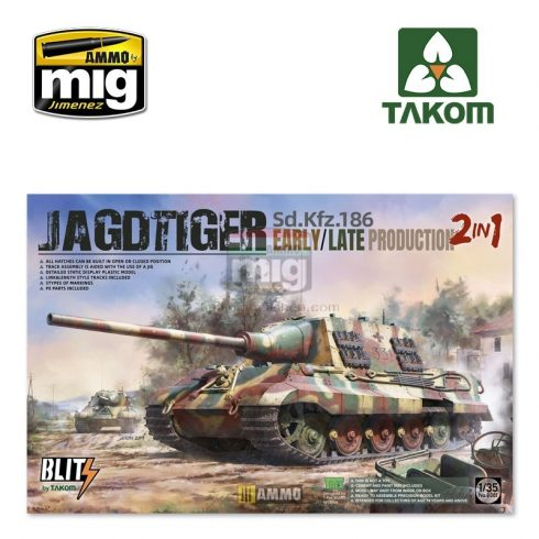 TAKO8001 1/35 Sd.Kfz.186 Jagdtiger early/late production 2 in 1