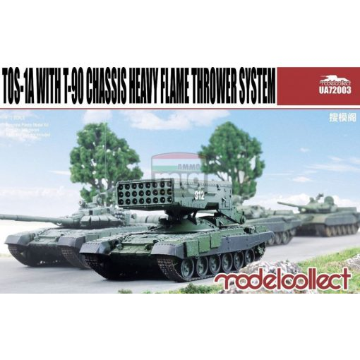 UA72003 TOS-1A with T-90 Chassis Heavy Flame Thrower System makett
