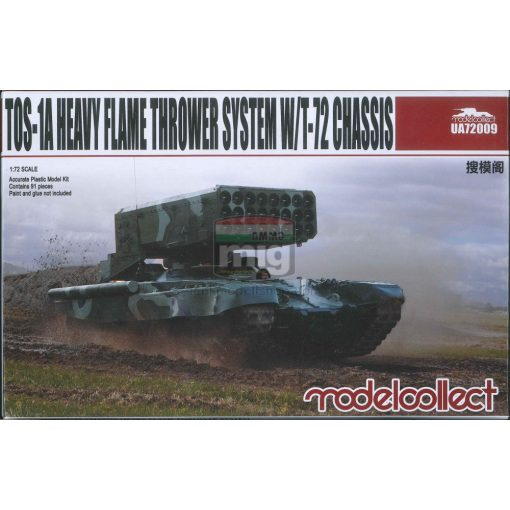 UA72009 TOS-1A Heavy Flame Thrower System W/T-72 Chassis makett