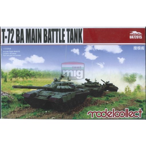 UA72015 T-72 BA Main battle tank makett