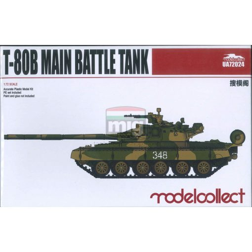 UA72024 T-80B Main Battle Tank makett