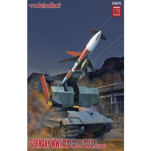 UA72031 Germany Rheintochter 1 movable Missile launcher with E50 body makett