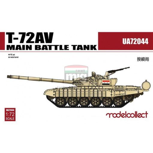 UA72044 T-72AV Main Battle Tank makett