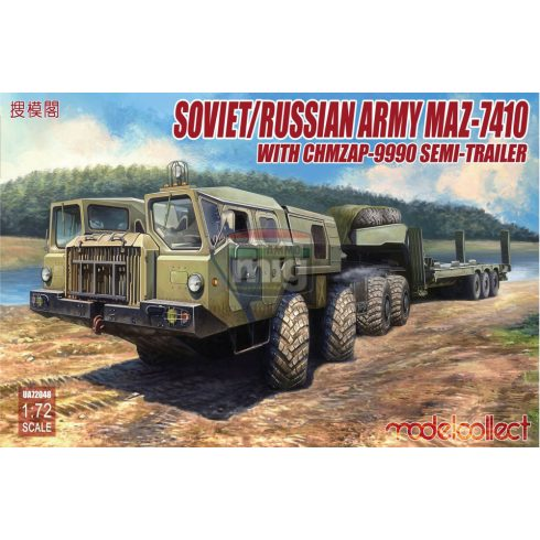 UA72048 Soviet/Russian Army MAZ-7410 with ChMZAP-9990 semi-trailer
