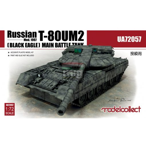 UA72057 Russian T-80UM2 (Black eagle) Main Battle Tank makett