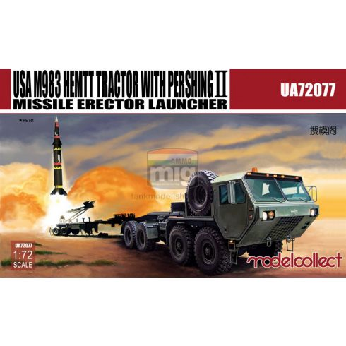 UA72077 USA M983 HEMTT Tractor with Pershing Ⅱ Missile Erector Launcher