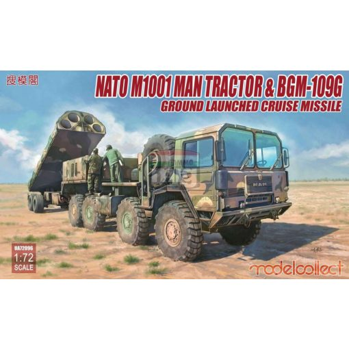 UA72096 Nato M1001 MAN Tractor & BGM-109G Ground Launched Cruise Missile makett