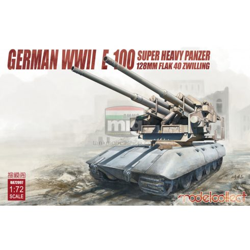 UA72097 Germany WWII E-100 super heavy panzer with 128mm flak 40 zwilling