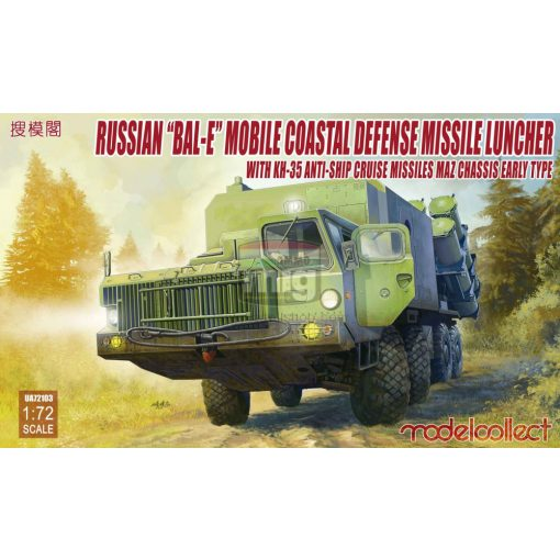 "UA72103 Russian ""Bal-E"" mobile coastal defense launcher + Kh-35 anti-ship missil MAZ chassis early type   makett"