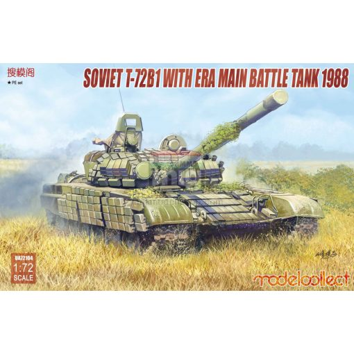 UA72104 Soviet T-72B1 with ERA main battle tank 1988 makett