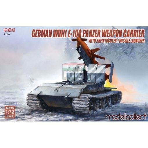 UA72106 German WWII E-100 panzer weapon carrier with Rheintochter 1 missile launcher makett