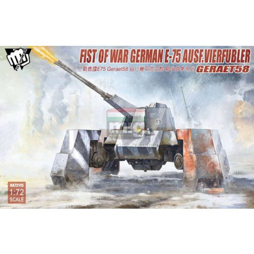 UA72115 Fist of War German WWII E75 Ausf.vierfubler Gerat 58 makett