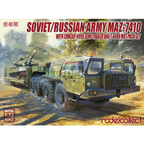 UA72153 Soviet/Russian Army MAZ-7410 with ChMZAP-9990 semi-trailer and T-80BV mbt pack set